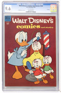 Golden Age (1938-1955):Cartoon Character, Walt Disney's Comics and Stories #169 File Copy (Dell, 1954) CGC NM+ 9.6 Off-white pages....