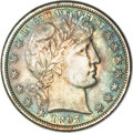 Barber Half Dollars, 1897 50C MS65 NGC....