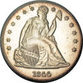 Seated Dollars, 1844 $1 MS62 PCGS....
