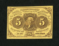 Fractional Currency:First Issue, Fr. 1230 5c First Issue Choice New....