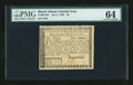 Colonial Notes:Rhode Island, Rhode Island July 2, 1780 $4 PMG Choice Uncirculated 64....