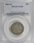 Seated Quarters: , 1891-O 25C VG10 PCGS. PCGS Population (3/37). NGC Census: (0/26).Mintage: 68,000. Numismedia Wsl. Price for NGC/PCGS coin ...