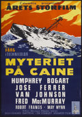 "Movie Posters:War, The Caine Mutiny (Columbia, 1954). Swedish One Sheet (27.5"" X39.5""). War...."