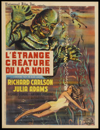"Creature From the Black Lagoon (Universal International, R-1962). French Petite (23.5"" X 31.5""). Horror"