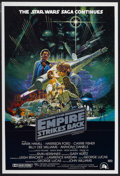 "Movie Posters:Science Fiction, The Empire Strikes Back (20th Century Fox, 1980). Australian OneSheet (27"" X 40"") Tri-Folded Style A. Science Fiction...."