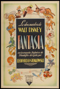 "Movie Posters:Animated, Fantasia (RKO, 1940). Argentinean Poster (29"" X 43""). Animated...."