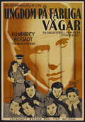 "Movie Posters:Crime, Crime School (Warner Brothers, 1938). Swedish One Sheet (27.5"" X39.5""). Crime...."