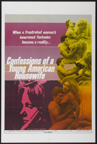 "Confessions of a Young American Housewife (Associated Film Distribution, 1976). One Sheet (28"" X 42""). Adult..."