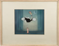 Animation Art:Production Cel, Fantasia Production Cel and Courvoisier Background OriginalArt (Disney, 1940). ...