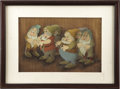 Animation Art:Production Cel, Snow White and the Seven Dwarfs Animation Production Cel (Disney, 1937)....