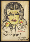 Original Comic Art:Sketches, Milton Caniff - Dragon Lady Chalk Talk Sketch Original Art (1963)....