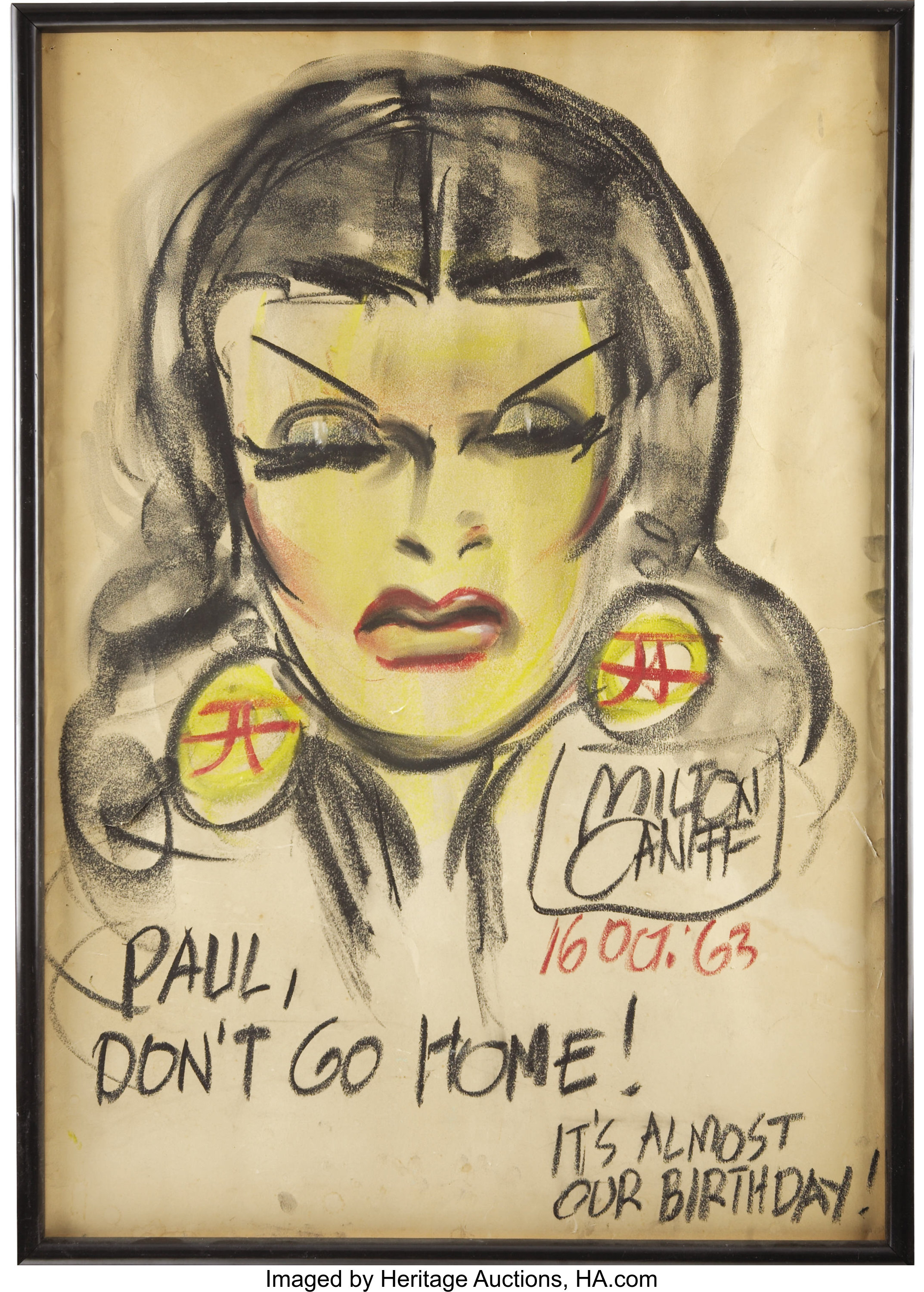 Milton Caniff Dragon Lady Chalk Talk Sketch Original Art Lot 42251 Heritage Auctions