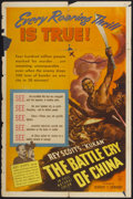 """Movie Posters:Documentary, The Battle Cry of China (United Artists, 1941). One Sheet (27"""" X 41""""). Documentary...."""