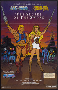 "He-Man and She-Ra: The Secret of the Sword (Atlantic Releasing, 1985). One Sheet (25"" X 39""). Animated"