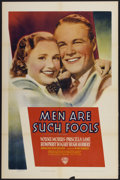 "Movie Posters:Drama, Men Are Such Fools (Warner Brothers, 1938). One Sheet (27"" X 41""). Drama...."