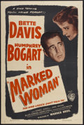 "Movie Posters:Crime, Marked Woman (Warner Brothers, R-1947). One Sheet (27"" X 41"").Crime...."