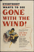 "Movie Posters:Academy Award Winner, Gone with the Wind (MGM, R-1947). One Sheet (27"" X 41""). Academy Award Winner...."