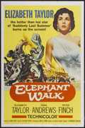 "Movie Posters:Adventure, Elephant Walk (Paramount, R-1960). One Sheet (27"" X 41"").Adventure...."