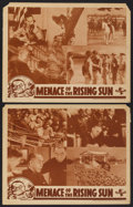 """Movie Posters:Documentary, Menace of the Rising Sun (Universal, 1942). Lobby Cards (2) (11"""" X 14""""). Documentary.... (Total: 2 Items)"""