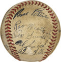 Autographs:Baseballs, 1941 Cleveland Indians Signed Team Ball. ...