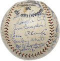 Autographs:Baseballs, 1932 New York Giants Team Signed Baseball with Ott, McGraw....