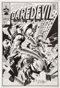 Original Comic Art:Covers, Gene Colan and Dave Gutierrez - Daredevil vs. Stilt-Man Cover Original Art (undated)....
