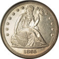 Seated Dollars, 1865 $1 MS65 NGC....