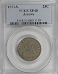 Seated Quarters: , 1873-S 25C Arrows XF40 PCGS. PCGS Population (6/23). NGC Census:(3/26). Mintage: 156,000. Numismedia Wsl. Price for NGC/PC...