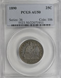 Seated Quarters: , 1890 25C AU50 PCGS. PCGS Population (4/171). NGC Census: (0/162).Mintage: 80,000. Numismedia Wsl. Price for NGC/PCGS coin ...