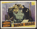 "Movie Posters:Comedy, Block-Heads (MGM, 1938). Lobby Card (11"" X 14""). Comedy...."