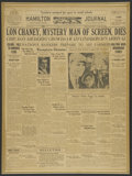 Movie Posters:unknown, Lon Chaney/Jean Harlow Newspapers (Hamilton Journal, 1930 & 1932). Newspapers (2). Miscellaneous. ... (Total: 2 Items)