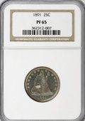 Proof Seated Quarters, 1891 25C PR65 NGC....
