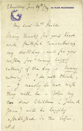 "Autographs:Non-American, Charles Gounod Autograph Letter Signed ""Ch. Gounod"". Threepages, 4.5"" x 7"", Malesherbes, France, June 19, 1879, to""..."