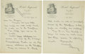 "Autographs:Celebrities, Robert E. Peary Autograph Letter Signed. Two pages on ""HotelImperial"" letterhead, 8.5"" x 11"", New York, January 30 [no ..."