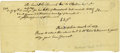 "Autographs:Statesmen, [John Hancock] Medical Bill for John Hancock Written DuringRevolutionary War. One page, 9"" x 4"", Philadelphia, July 27, 177..."