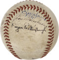 Autographs:Baseballs, 1941 Cleveland Indians Team Signed Baseball. ...