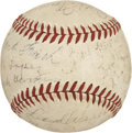 Autographs:Baseballs, 1940 Pittsburgh Pirates Team Signed Baseball....