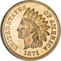 Proof Indian Cents, 1871 1C PR65 Red NGC....