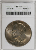 Eisenhower Dollars: , 1973 $1 MS65 ANACS. NGC Census: (327/20). PCGS Population (777/72). Mintage: 2,000,056. Numismedia Wsl. Price for NGC/PCGS ...