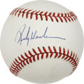 Autographs:Baseballs, Rickey Henderson Single Signed Baseball....
