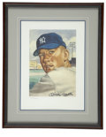 Baseball Collectibles:Others, Mickey Mantle Signed Art from the 1953 Topps Set....