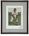 Baseball Collectibles:Others, Willie Mays Signed Art from the 1953 Topps Set....