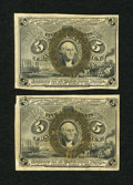 Fractional Currency:Second Issue, Fr. 1234 5c Second Issue. Two Examples. Extremely Fine.... (Total: 2 notes)