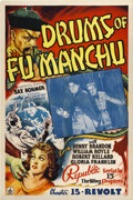 """Movie Posters:Serial, Drums of Fu Manchu (Republic, 1940). One Sheet (27"""" X 41""""). Chapter15 -- """"Revolt.""""..."""