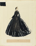 "Movie Posters:Academy Award Winner, Gone with the Wind (MGM, 1939). Signed Original Costume Sketch ofEllen (17"" X 22"")...."