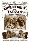 "Movie Posters:Serial, The Adventures of Tarzan (Adventures of Tarzan Serial Sales,R-1928). One Sheet (28"" X 41.5""). Chapter Six -- ""Fangs of the ..."