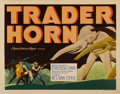 "Movie Posters:Adventure, Trader Horn (MGM, 1931). Title Lobby Card and Lobby Cards (2) (11""X 14"").... (Total: 3 Items)"