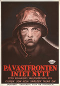 """Movie Posters:Academy Award Winner, All Quiet on the Western Front (Universal, 1930). Swedish One Sheet (27.5"""" X 39.5"""")...."""