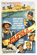 "Movie Posters:Western, She Wore a Yellow Ribbon (RKO, 1949). One Sheet (27"" X 41"")...."