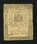 Colonial Notes:Pennsylvania, Pennsylvania December 8, 1775 10s Very Good....